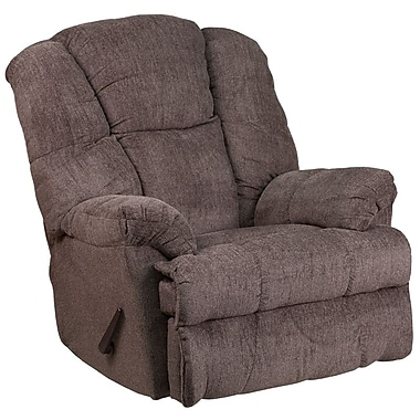 Flash Furniture – Fauteuil berçant inclinable contemporain Hillel, chenille étain (WM9745435)
