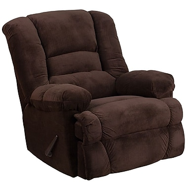 Flash Furniture – Fauteuil berçant inclinable contemporain Dynasty en microfibres, chocolat (WM9830800)