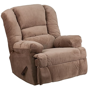 Flash Furniture – Fauteuil berçant inclinable contemporain Dynasty en microfibres, chamois (WM9830801)