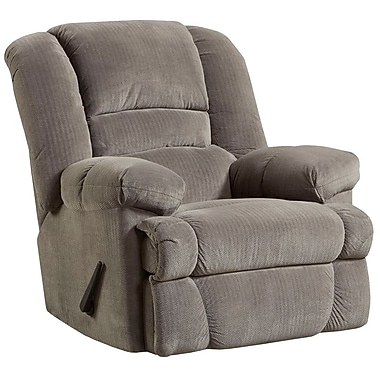 Flash Furniture – Fauteuil berçant inclinable contemporain Dynasty en microfibres, fumée (WM9830802)