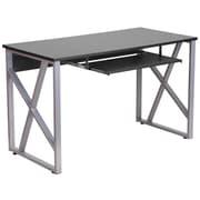 Flash Furniture – Bureau d'ordinateur noir avec support clavier à glissière