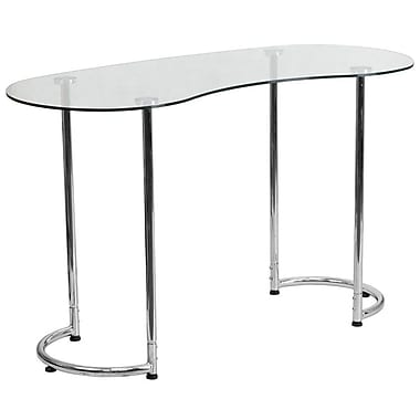 Flash Furniture – Bureau contemporain avec verre trempé transparent (NANYLCD1235)