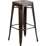 Flash Furniture 30'' High Backless Distressed Copper Metal Indoor Barstool (ETBT350330)