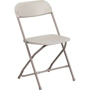 Flash Furniture HERCULES Series 300lbs Capacity Triple Braced Plastic Folding Chair, Beige (HF3MC309ASBGE)