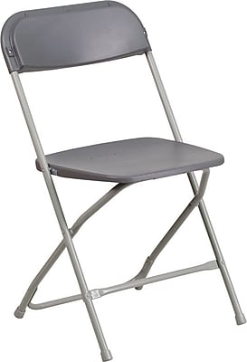 Flash Furniture HERCULES Series 800lbs Capacity Premium Plastic Folding Chair, Blue (LEL3BLUE)