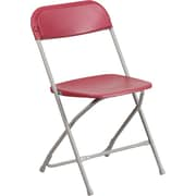 Flash Furniture HERCULES Series 800lbs Capacity Premium Plastic Folding Chair, Red (LEL3RED)