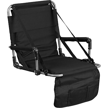 Flash Furniture Folding Stadium Chair in Black (TY2710BK)