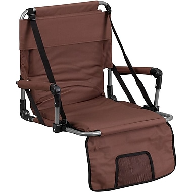 Flash Furniture Folding Stadium Chair, Brown (TY2710BN)