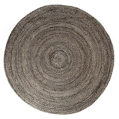 Anji Mountain 4' x 4' Kerala Grey Jute Rug (AMB0329-040R)