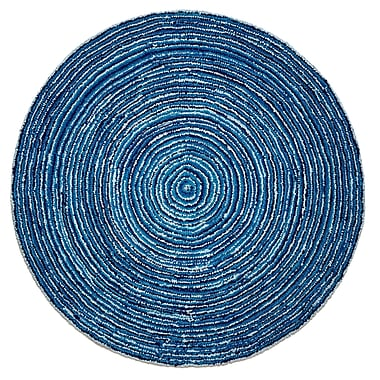 Anji Mountain 8' x 8' Round Ripple Blue Skies Rug (AMB1011-080R)