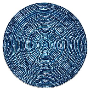 Anji Mountain – Tapis 6 x 6 pi, ondulations rondes bleu ciel (AMB1011-060R)