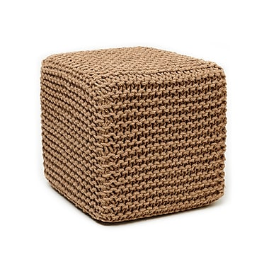 Anji Mountain Natural Jute Pouf Square (AMB0001-1818)