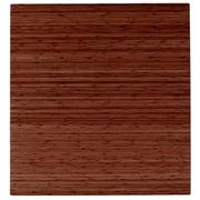 Anji Mountain Roll-Up 42''x48'' Bamboo Chair Mat for Carpet & Hard Floor, Rectangular, Walnut (AMB24050)