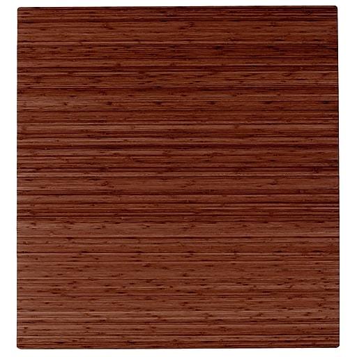Anji Mountain Roll Up 42x48 Bamboo Chair Mat For Carpet Hard