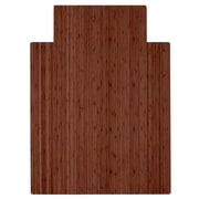 Anji Mountain Roll-Up 52''x48'' Bamboo Chair Mat for Hard Floor, Rectangular, Walnut (AMB24051)