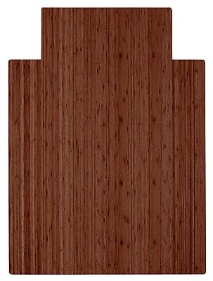 Anji Mountain Roll-Up 52''x48'' Bamboo Chair Mat for Hard Floor, Rectangular, Walnut (AMB24051)