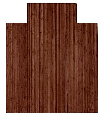 Anji Mountain Roll-Up 48''x36'' Bamboo Chair Mat for Carpet & Hard Floor, Rectangular, Walnut (AMB24052)