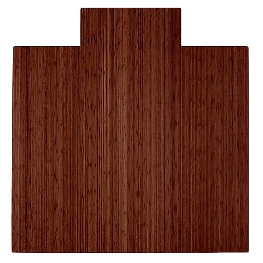 Anji Mountain Roll Up 57 X55 Bamboo Chair Mat For Hard