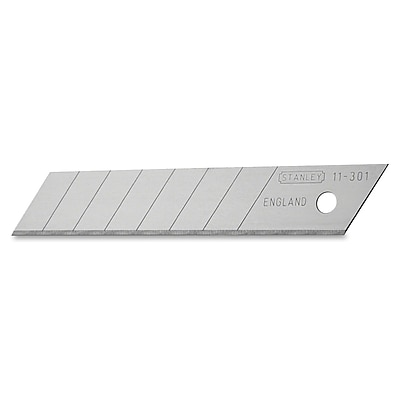 Stanley® Quick Point Replacement 8 Section Knife Blade, Steel, 4-1/4