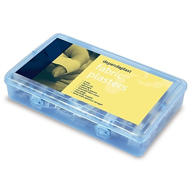 Dependplast Adhesive Bandages, Fabric, Assorted Bandages, 120/Pack