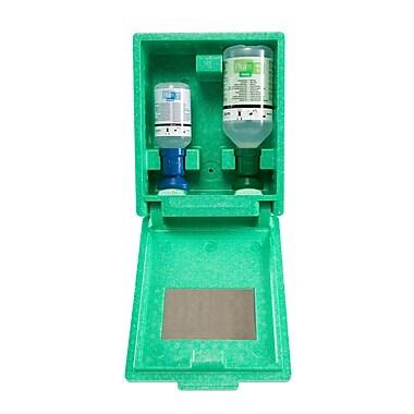 Plum – Poste de lavage oculaire et chimique avec miroir et fixation au mur