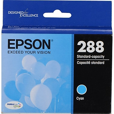 Epson 288 DURABrite Ultra (T288220-S) , Cyan Ink Cartridge, Standard Capacity