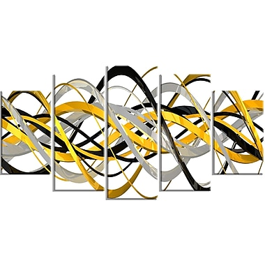 Designart Expression Helix XXL-Size Gallery-Wrapped Canvas Art, (PT3015-373)