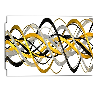 Designart- HelixExpression Abstract Art Canvas, (PT3015-24X48)