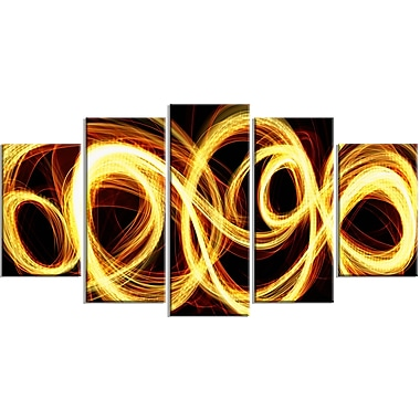 Designart Abstract Gold Shock Canvas Art, (PT3016-373)
