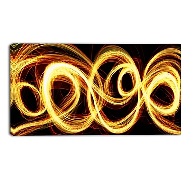 Designart Abstract Gold Shock Canvas Art, (PT3016-32-16)