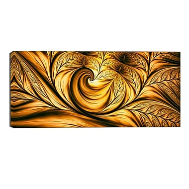 Designart Abstract Golden Dream, 5 Piece Gallery-Wrapped Wall Print Art, (PT3026-32-16)