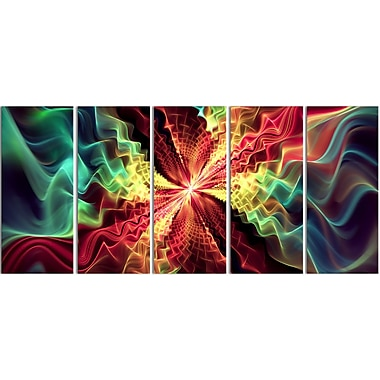 Designart Abstract Hypnotize, 5 Piece Canvas Print, (PT3029-401)