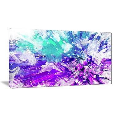 Designart – Art imprimé sur toile, fleur aux teintes bleues, 40 x 20 po, (PT3422-1-40-20)