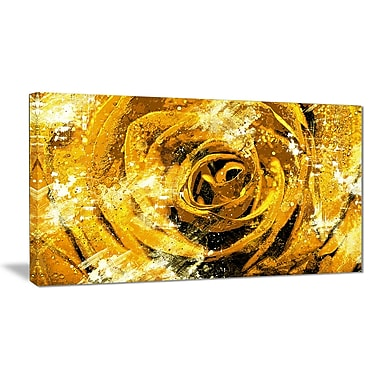 Designart – Art imprimé sur toile, centre d'une rose, 40 x 20 po, (PT3427-3-40-20)