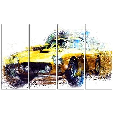 Designart Yellow Classic Car 48