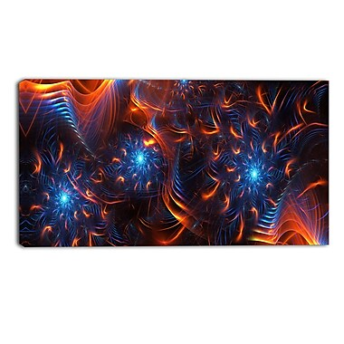 Designart Large Fire & Ice Gallery-Wrapped Canvas, 16