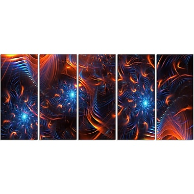 Designart Large Fire & Ice Gallery-Wrapped Canvas, (PT3001-401)
