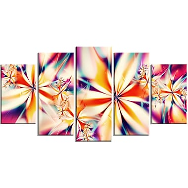 Designart Crystalize Pink Floral Canvas Art Set, (PT3013-373)