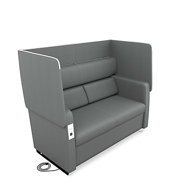 OFM Morph Series Soft Seating Sofa, Slate Gray (845123054031)