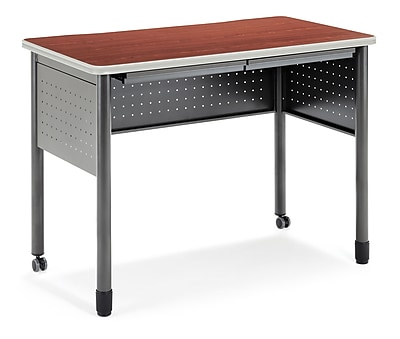 OFM Mesa 47.25'' Rectangular Standing Training Table, Cherry (845123052815)