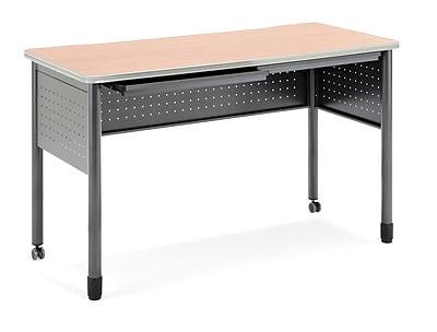 OFM Mesa 55.24'' Rectangular Standing Training Table, Maple (845123052853)