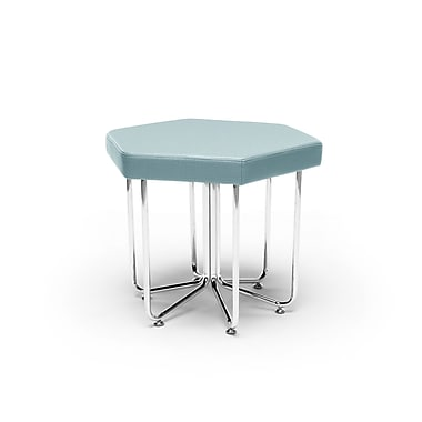 OFM Hex Series Stool with Chrome Frame, Aqua (66-AQU)