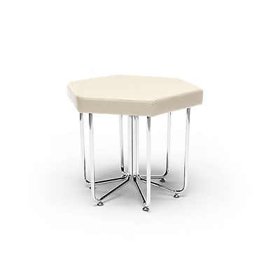 OFM Hex Series Stool with Chrome Frame, Linen (845123080030)