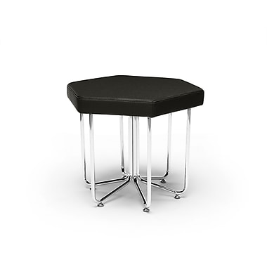OFM Hex Series Stool with Chrome Frame, Midnight (845123080047)