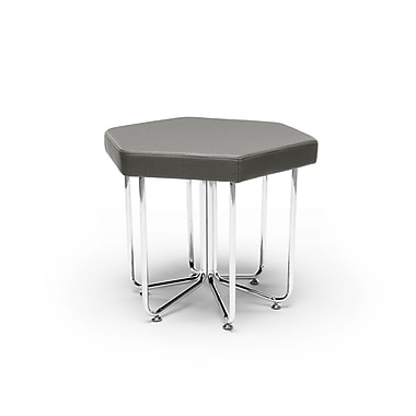 OFM Hex Series Stool with Chrome Frame, Slate (845123080054)