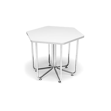 OFM Hex Series Table with Chrome Frame, White (845123080061)