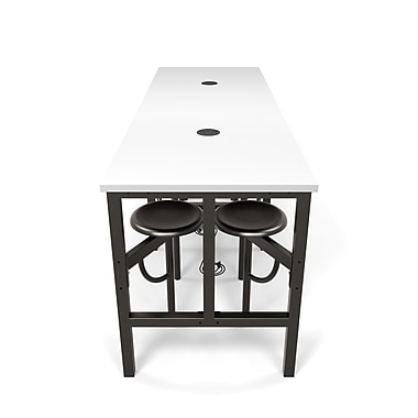 OFM Endure Series Standing Height Eight Seat Table, DarkVein/White (845123080153)