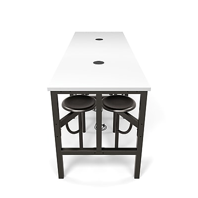 OFM Endure Series Standing Height Eight Seat Table, DarkVein/White (9008-DVN-WHT)