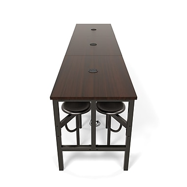 OFM Endure Series Standing Height Twelve Seat Table, DarkVein/Walnut (845123054284)