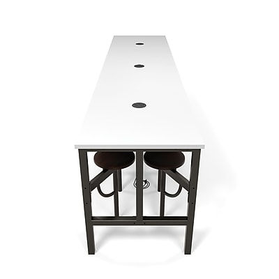 OFM Endure Series Standing Height Twelve Seat Table, Walnut/White (9012-WLT-WHT)